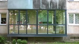 Balkonas PVC Antracit